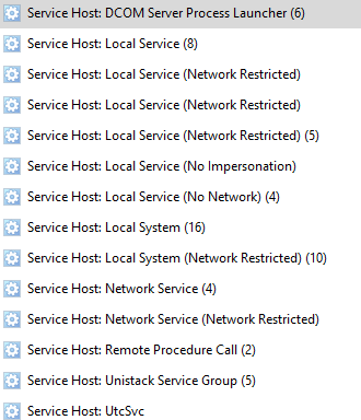 svchost.exe service host local service (no impersonation)
