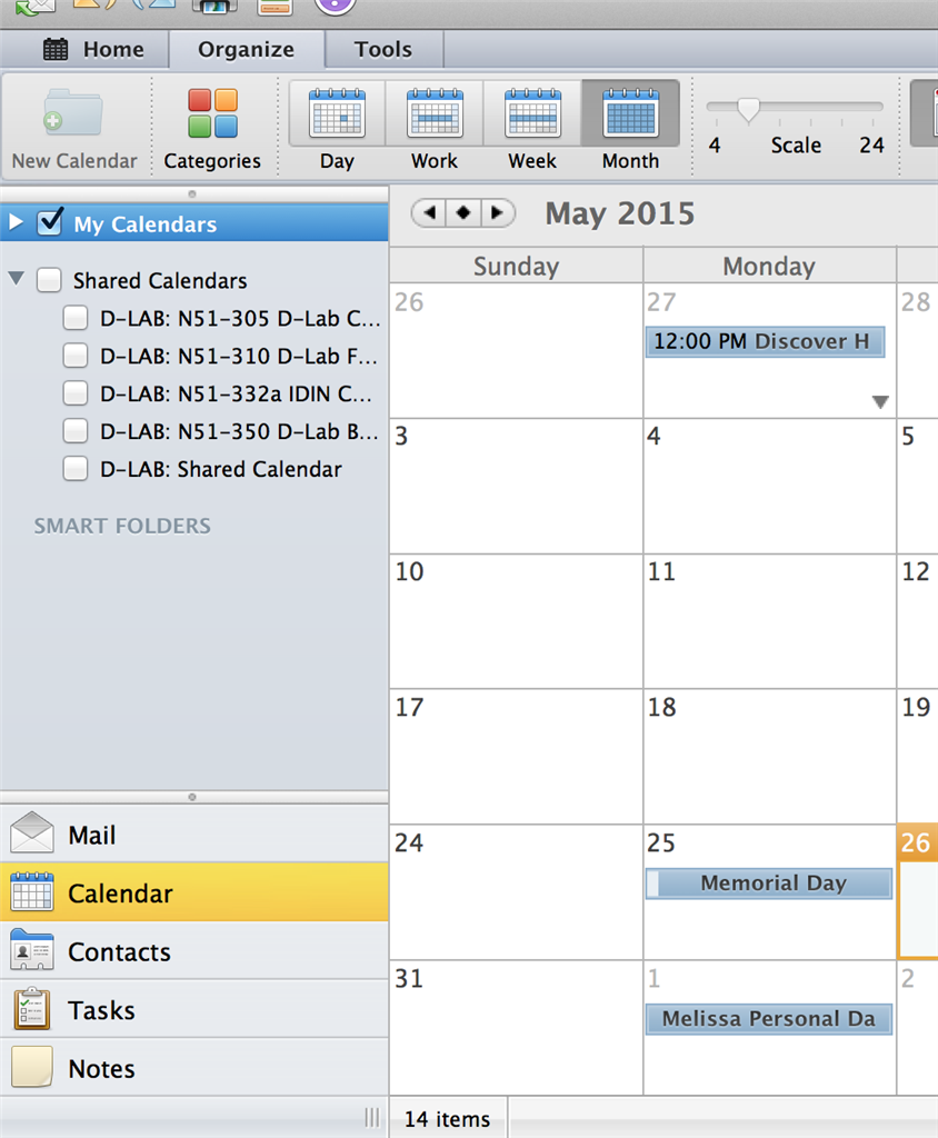 New calendar icon is greyed out in Outlook 2011 for Mac