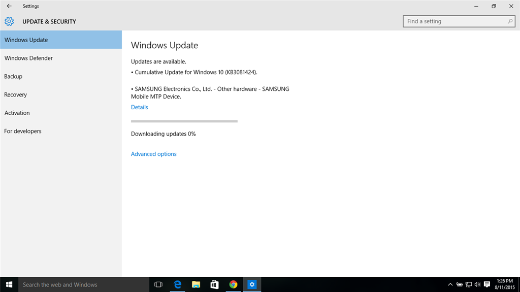 cant update windows 8 to 10