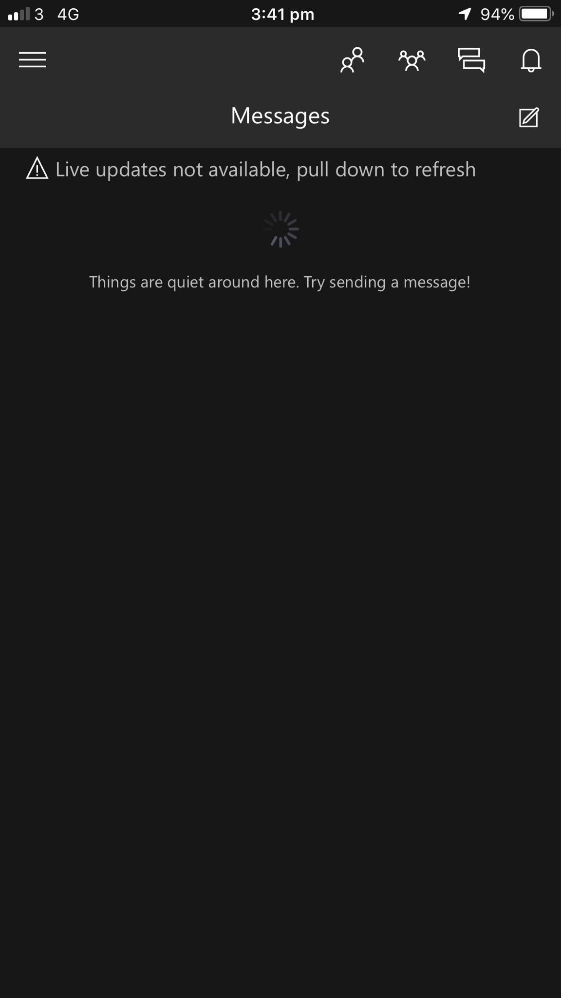Xbox app on phone - cant see my messages [IMG]