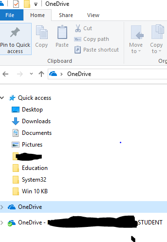 I recently setup OneDrive on Windows 10 with school Office