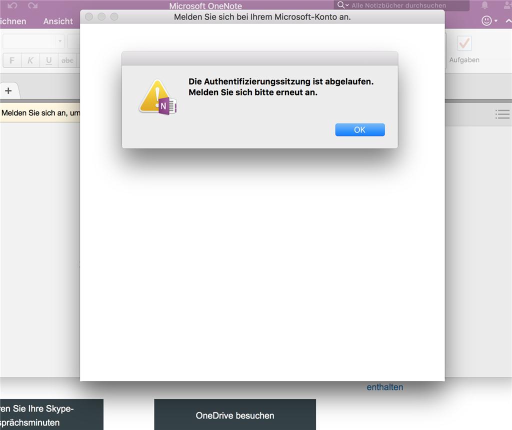 One Note Anmeldung bei office 365 funktioniert nicht - Microsoft ...