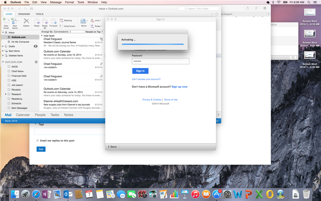 cant activate office for mac 2011