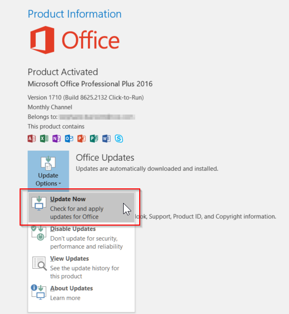Office 2016 Click-to-Run won't auto-update - Microsoft Community