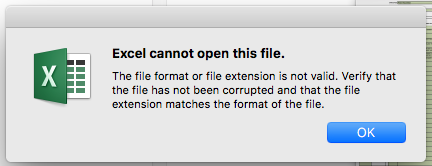 Excel cannot open this file - Microsoft Community