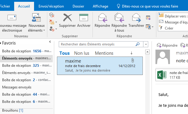 outlook 2016 - messages envoy u00e9s disparus