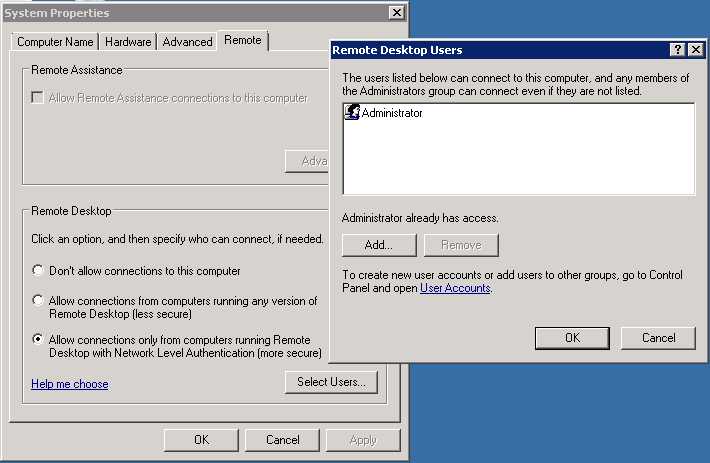 Remote Desktop Connection not workin after Win 10 upgrade
