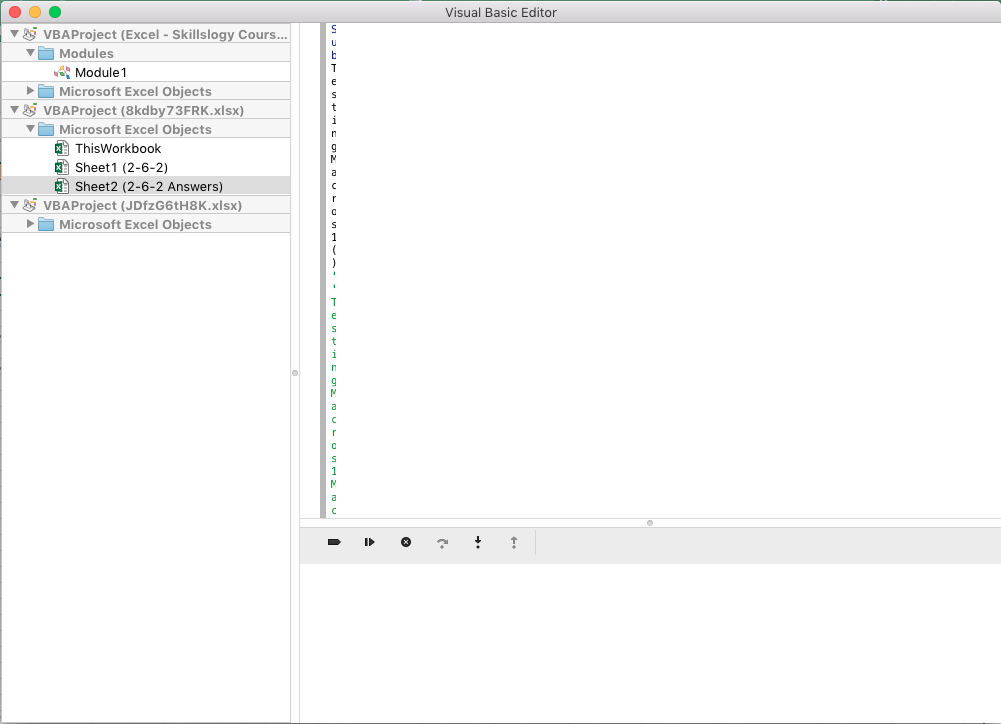 Visual basic for excel examples
