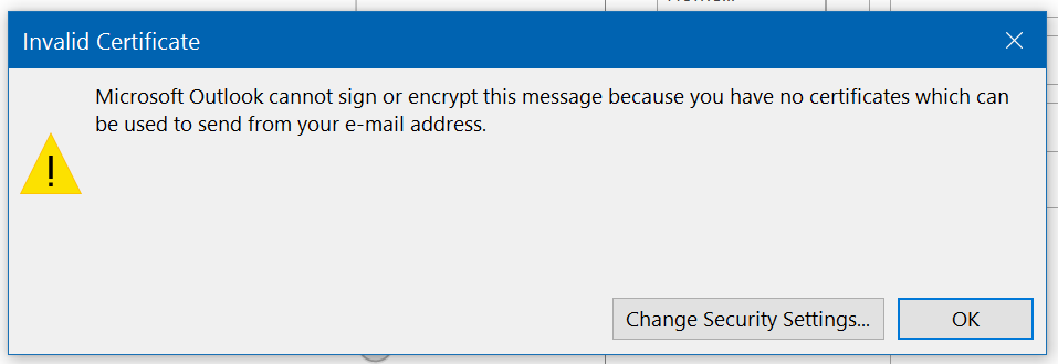 Outlook 2016 Problem With Contacts And Smime Microsoft Community