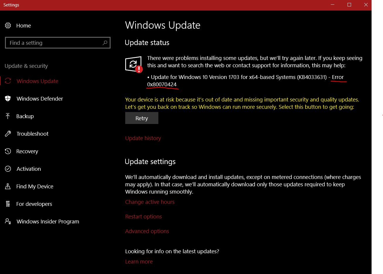 Update for Windows 10 Version 1703 for x64-based Systems
