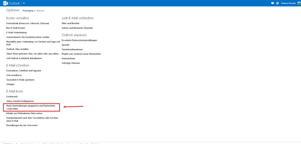 Meine E Mail Adresse Lautet e mails einzeln anzeigen microsoft community