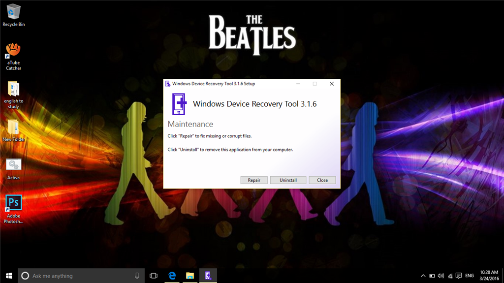 Can\u0027t Update Windows Device Recovery Tool from version 3.1.6 to