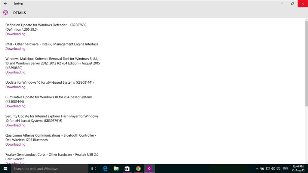Windows update and store not downloading the updates in windows 10