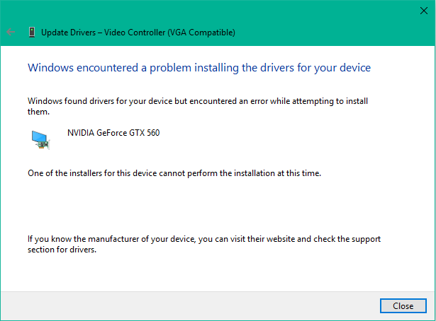 windows encountered a problem installing the drivers for your device