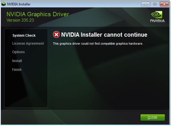 nVidia graphic card does not show up in device manager