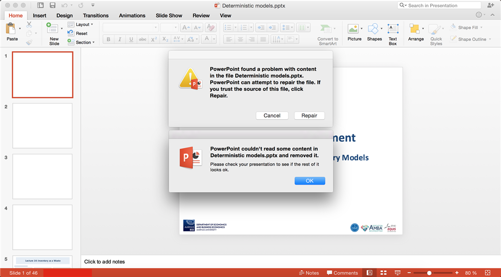Has PowerPoint corrupted my files? - Microsoft Community