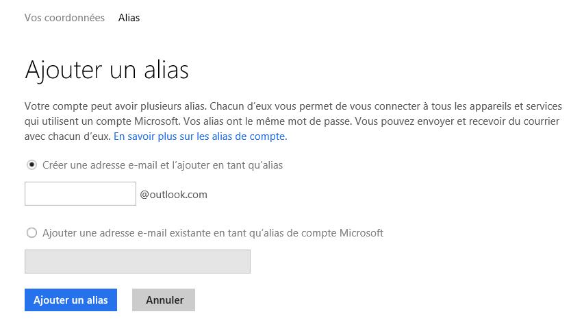 Gerer Vos Alias Microsoft Community