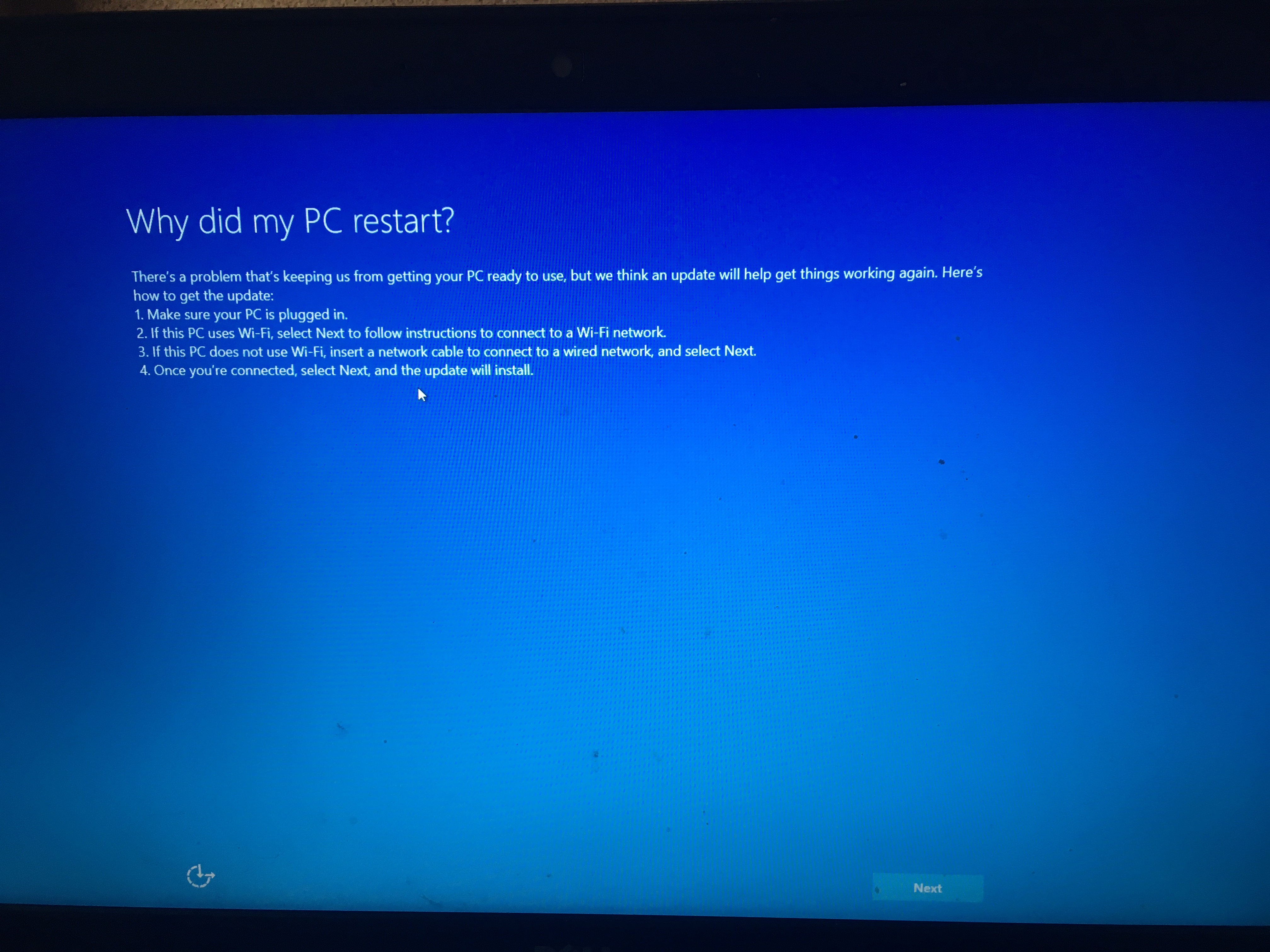 Computer Stuck In A Loop After Factory Reset Microsoft Community