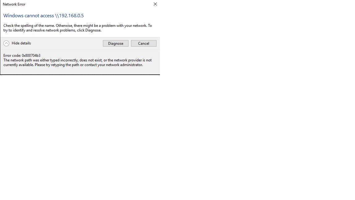 To eliminate error code 0x800704B3 - Microsoft Community