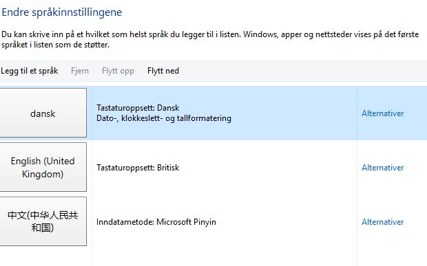 Windows 10 vil ikke benytte dansk som systemsprog. - Microsoft Community