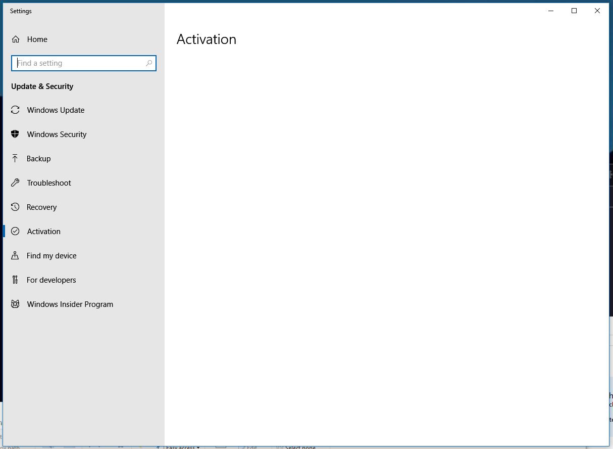 Windows 10 activation screen is blank! - Microsoft Community