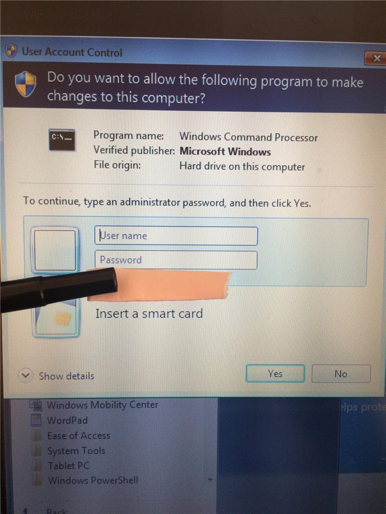how to delete as administrator windows 7