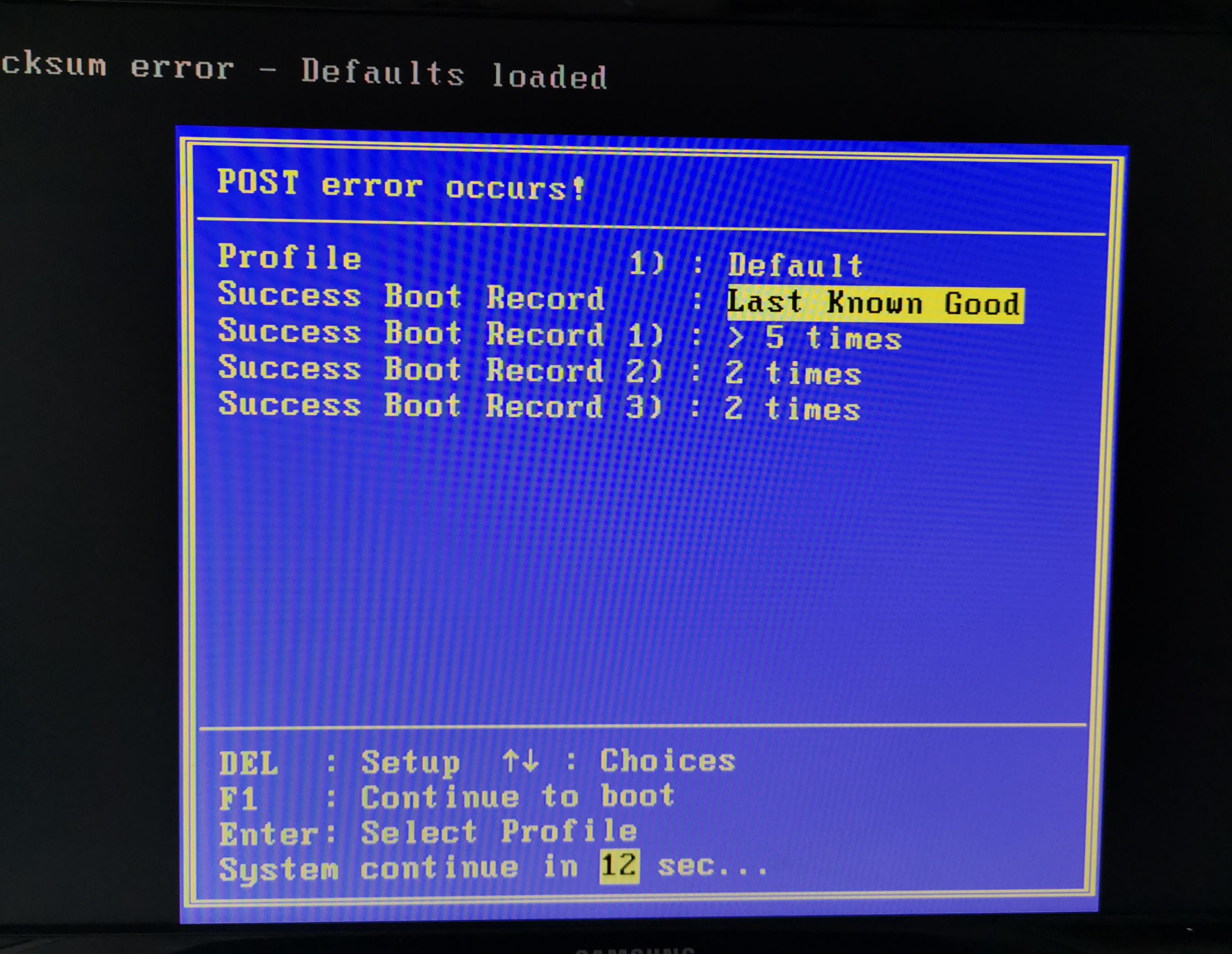 Fehler bei Windows 10 Start