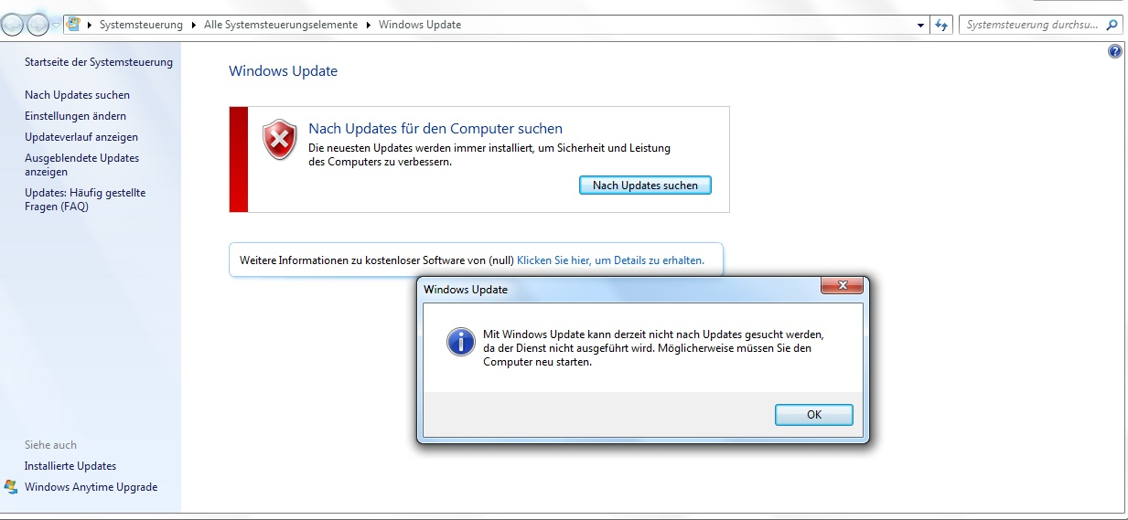 Windows update funktioniert nicht mehr win7 64bit windows security update for windows 7