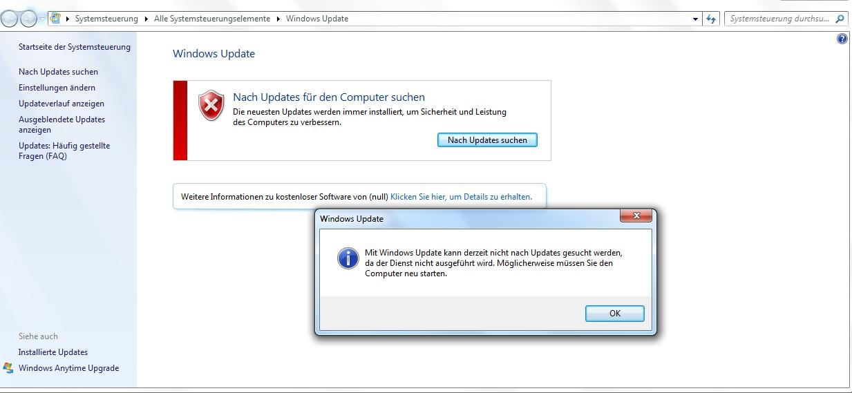 Windows Update Funktioniert Nicht Dienst Wird Nicht Ausgefuhrt