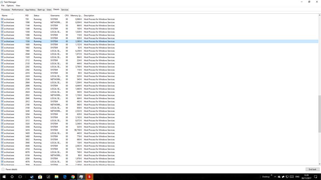 svchost.exe - Dozens running, high disk usage - Microsoft Community