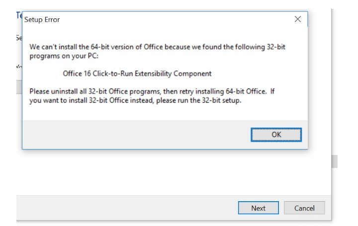 office 365 visio install fails