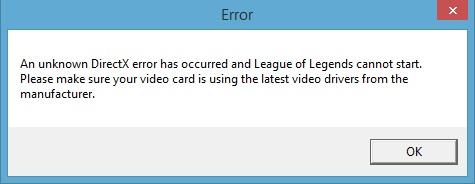 League of Legends game launcher crash after Windows 8 1