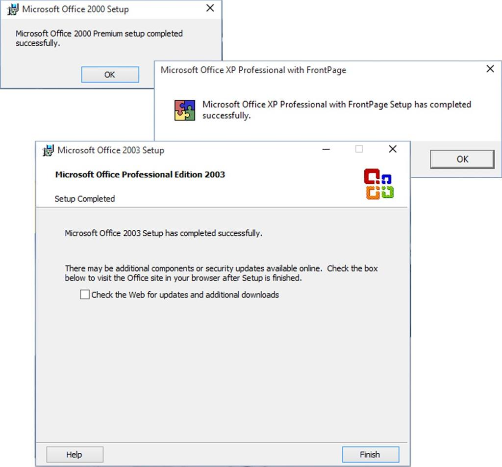 unable to install microsoft office 2007 on windows 10