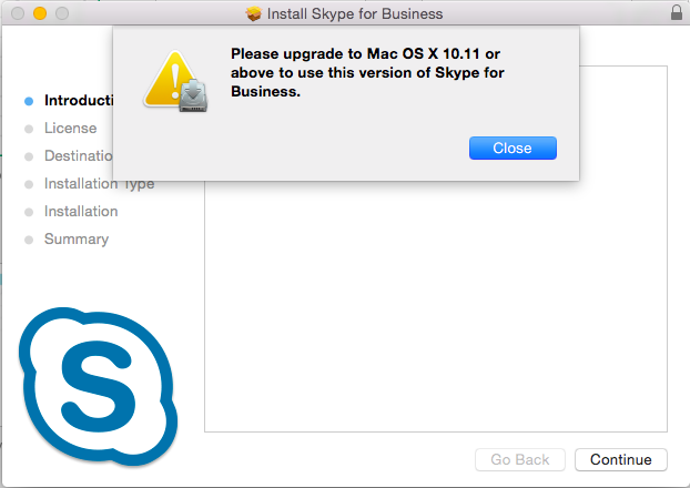 unable to install skype on mac