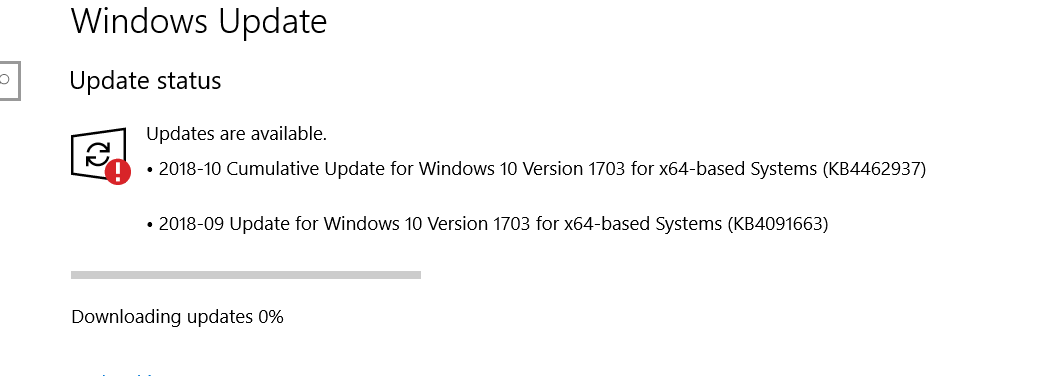 Windows 10 Stuck on version 1703 Wont update to 1803 and beyond