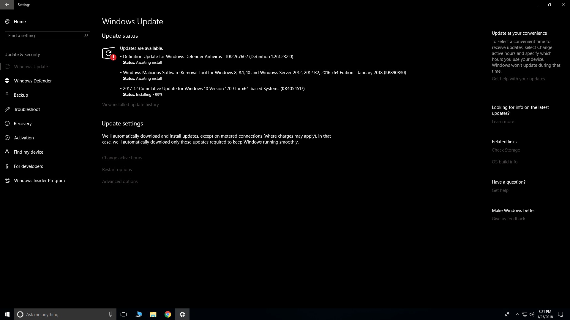 Windows update Stuck on Awaiting install  - Microsoft Community
