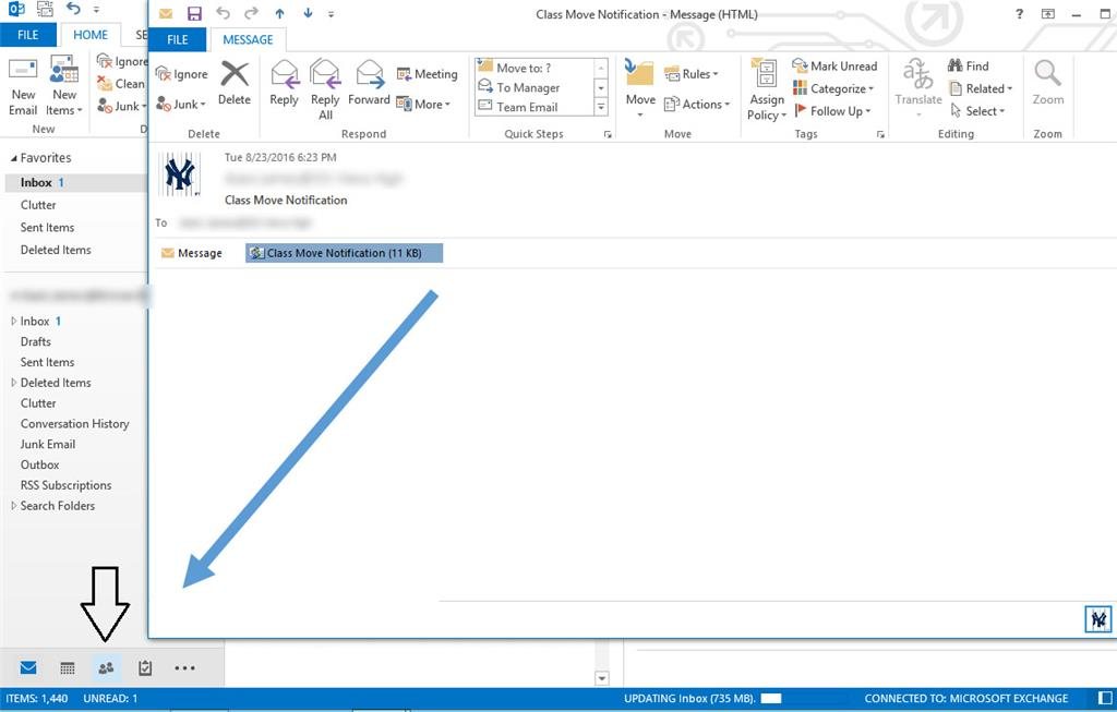 Outlook for mac client to version 15.38