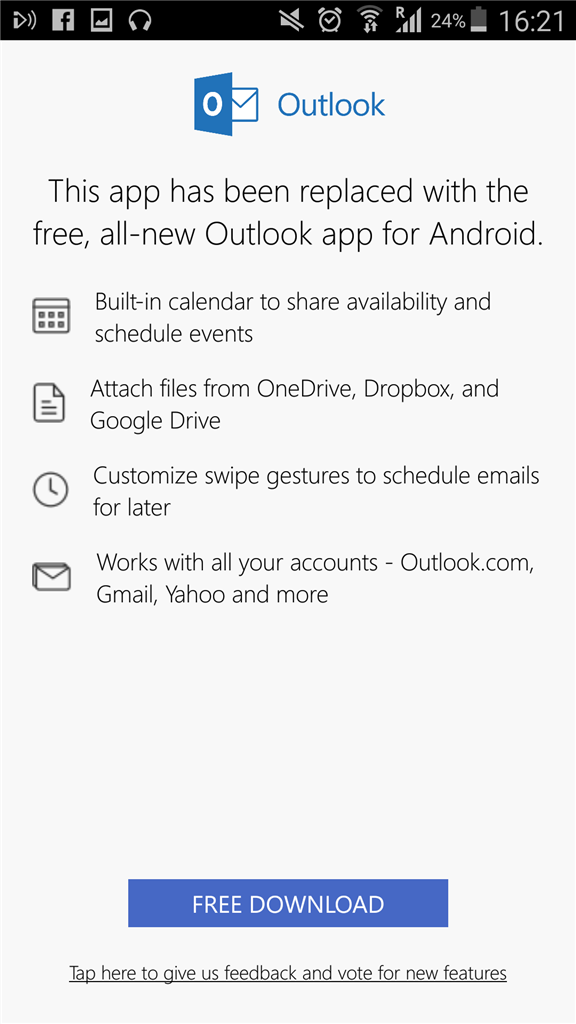 outlook calendar no longer syncing with Samsung S Planner