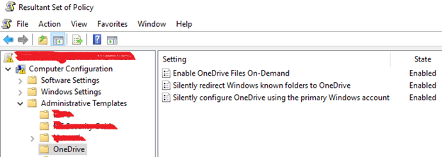 OneDrive GPO settings not getting applied on the clients - Microsoft