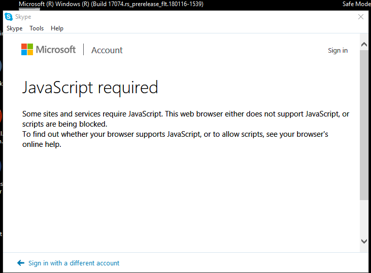 Skype for Windows Desktop won\u0027t sign in. What can I do to fix
