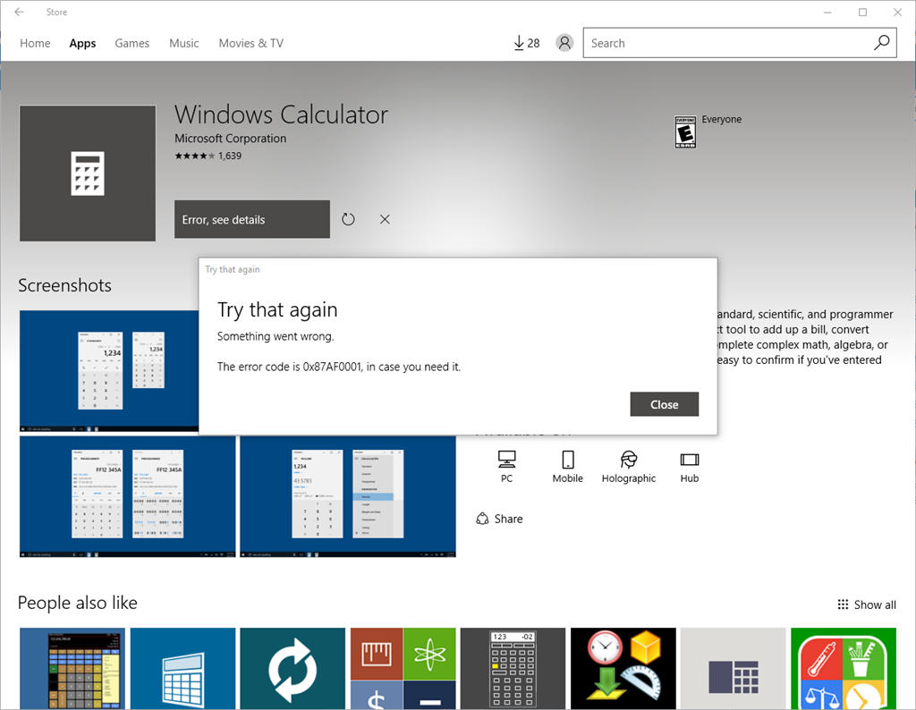 calculator missing after anniversary update microsoft community