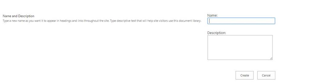 SharePoint Online document library - description - Microsoft Community