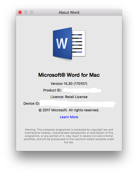 ms office home and business 2016 license