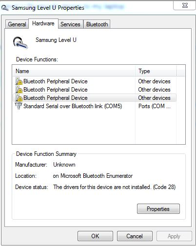 Connecting My Samsung Level U Bluetooth Device To My Laptop Microsoft Community