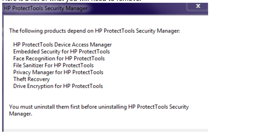 Uninstall HP encryption - Microsoft Community
