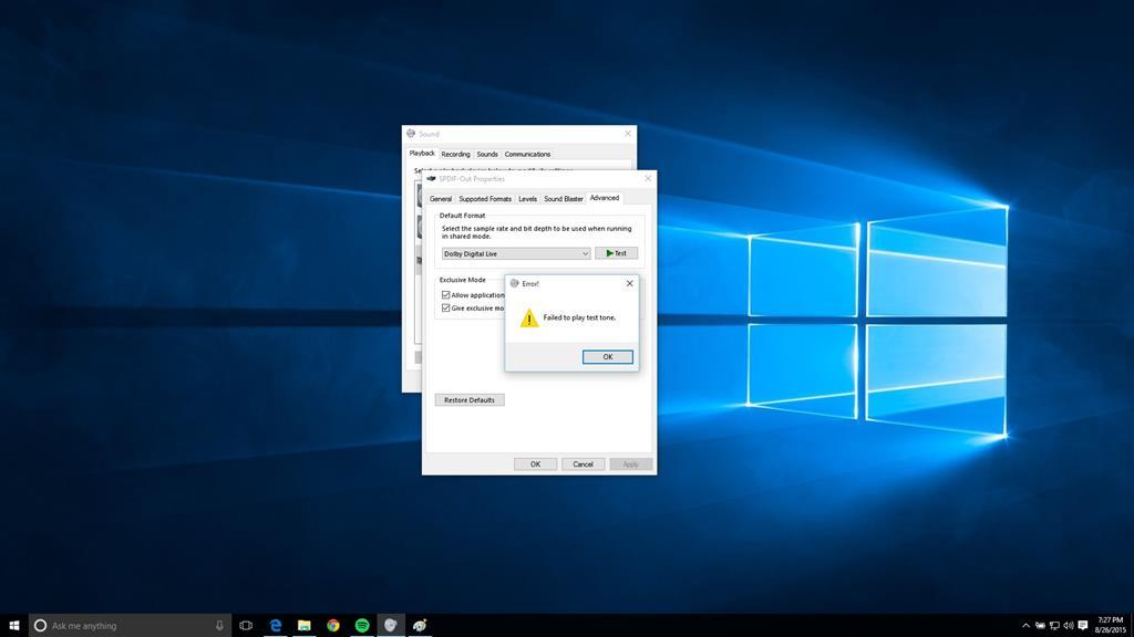 Dolby Digital Live not working on Windows 10 - Microsoft Community