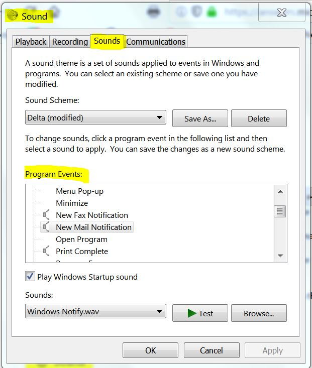 audible notification of email - Microsoft Community
