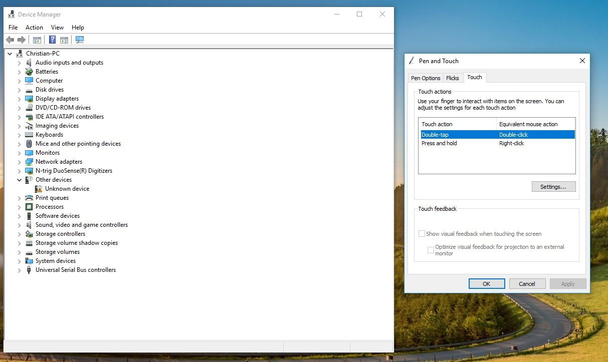 disable touchscreen windows 10 device manager