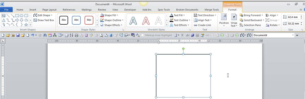 Word 2010: How to vertically align text in a text box