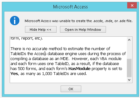 Execution of this application has stopped due to a run-time